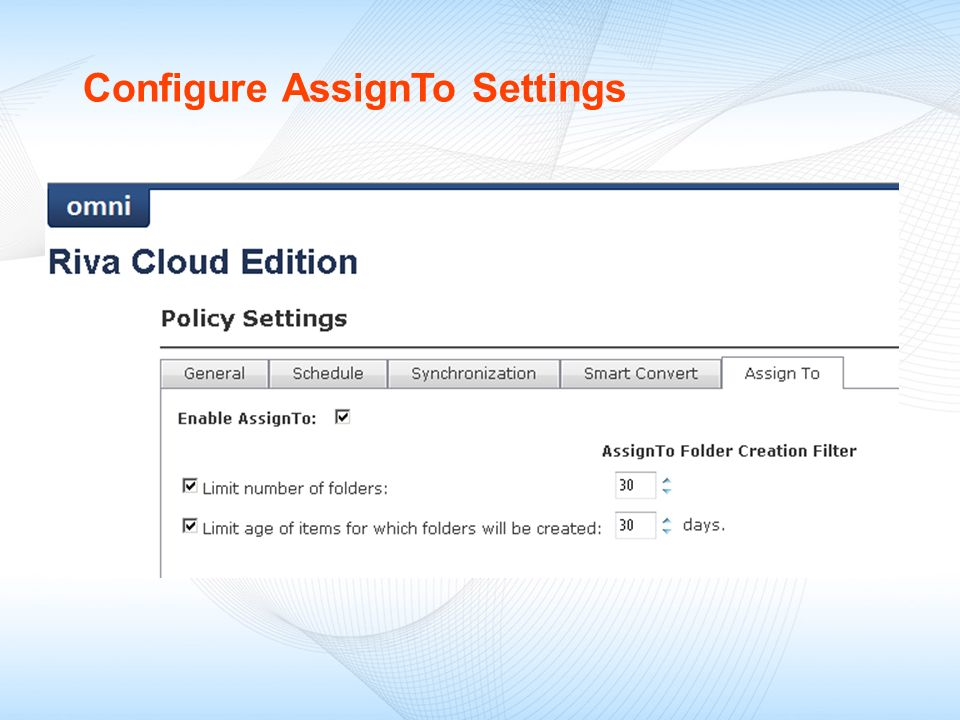 Configure AssignTo Settings