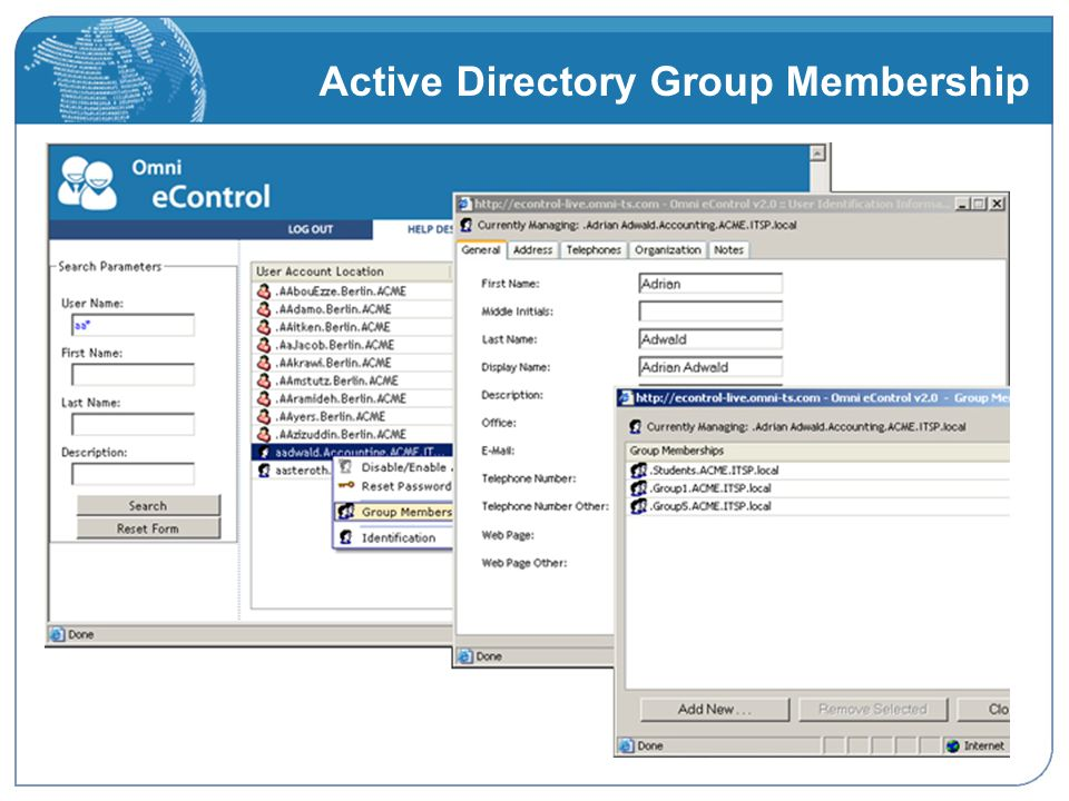 Active Directory Group Membership