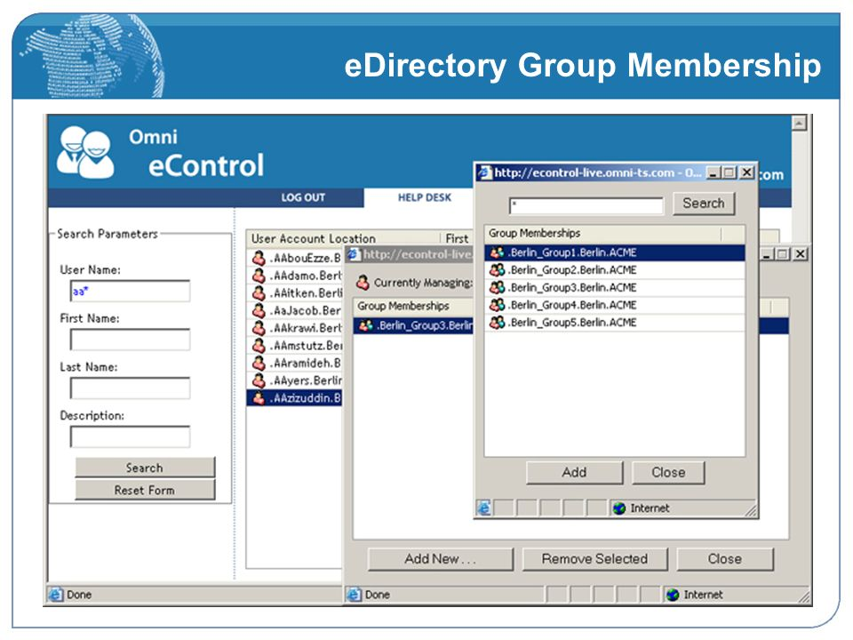 eDirectory Group Membership