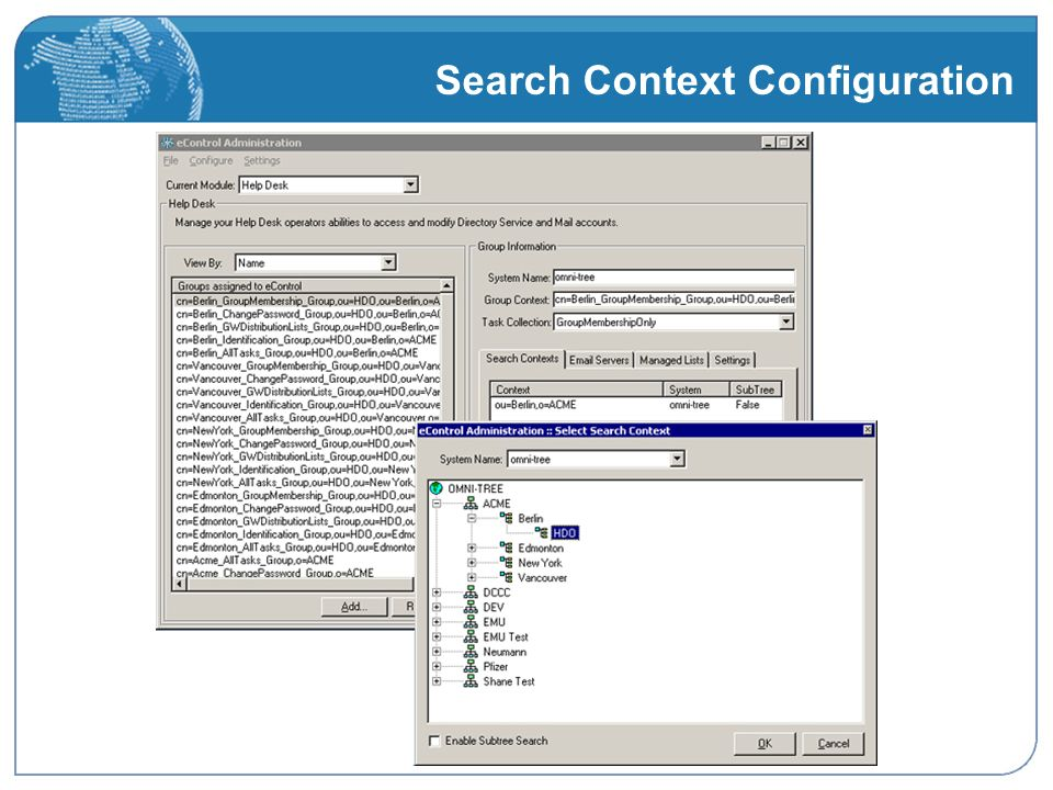 Search Context Configuration