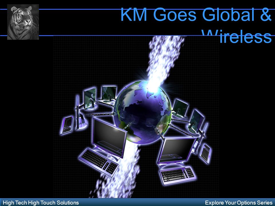Explore Your Options SeriesHigh Tech High Touch Solutions KM Goes Global & Wireless