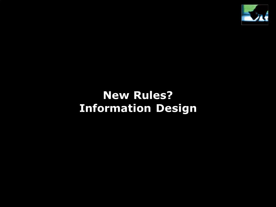 New Rules Information Design