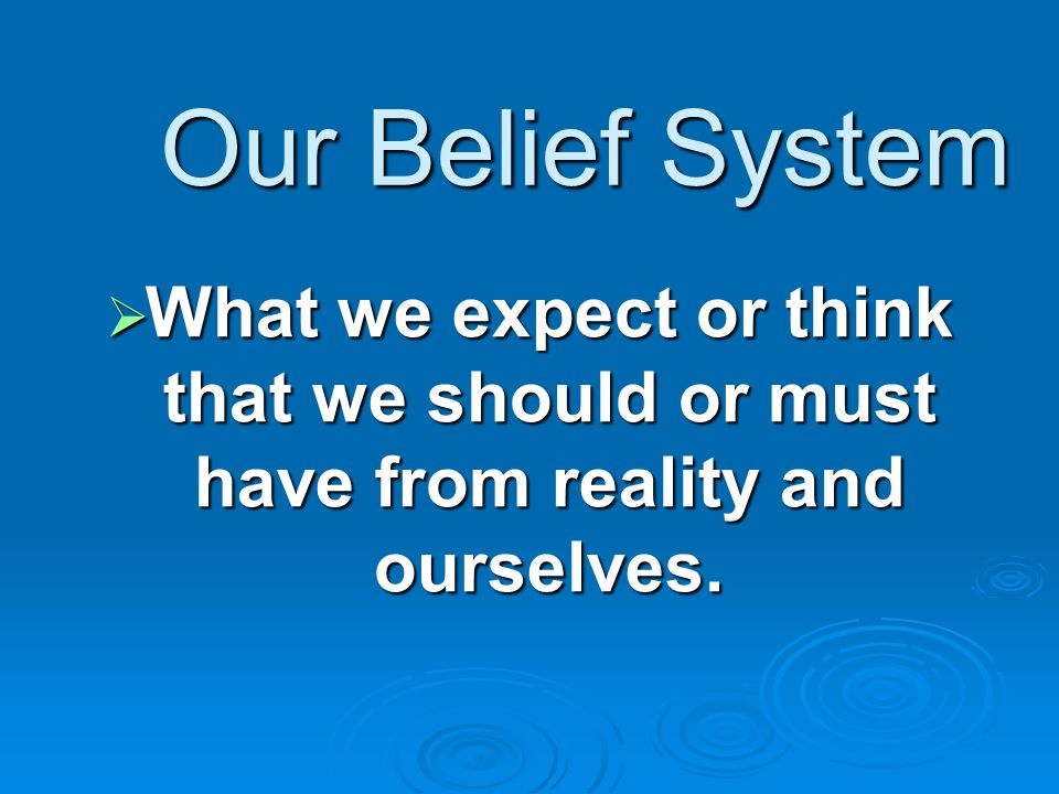 Emotions Situation Belief System Feelings