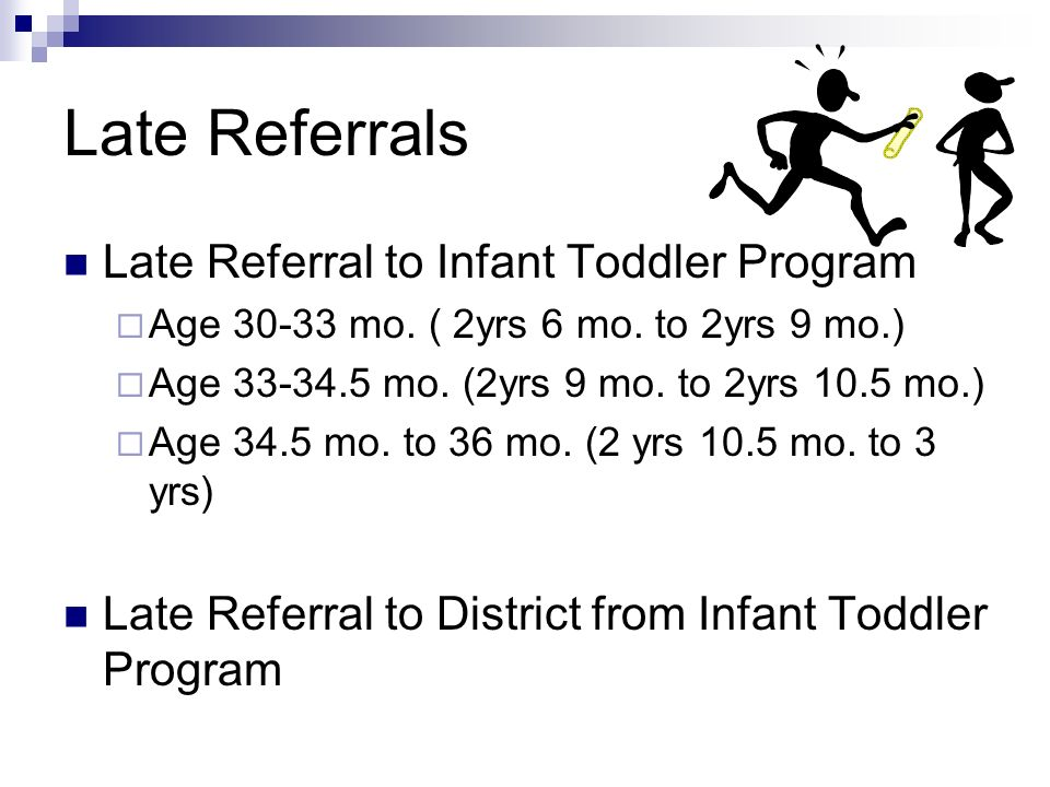 Late Referral to Infant Toddler Program Age 30-33 mo.