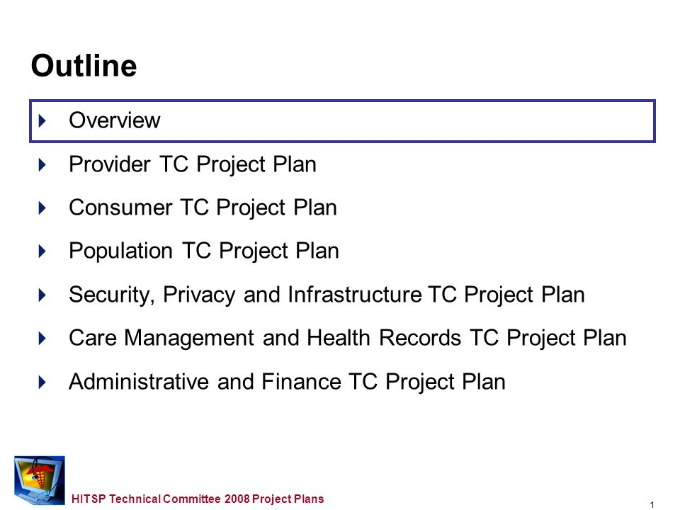 0 HITSP Technical Committee 2008 Project Plans Arlington, VA.