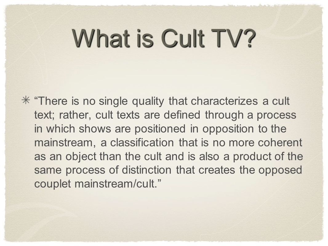 What is Cult TV.