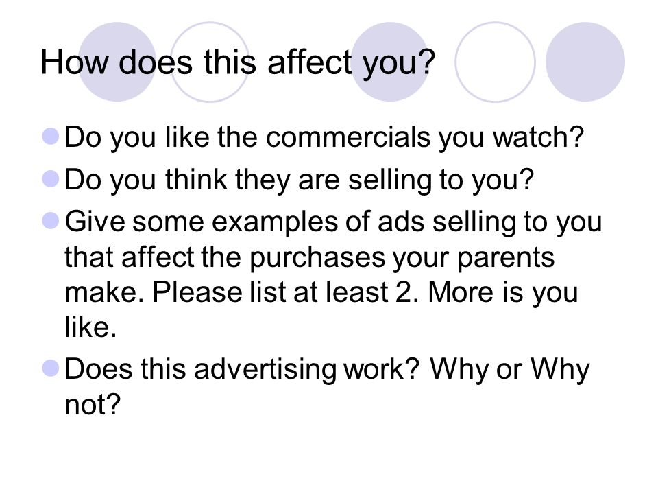 How does this affect you. Do you like the commercials you watch.