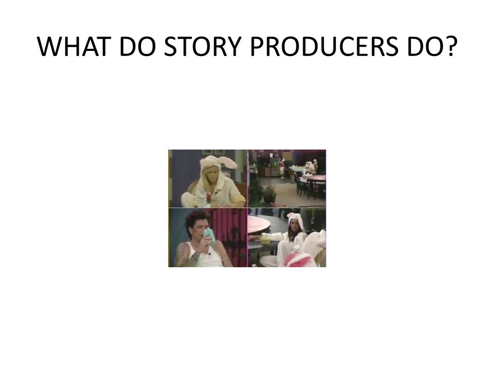 WHAT DO STORY PRODUCERS DO