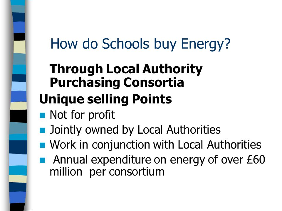 How do Schools buy Energy.