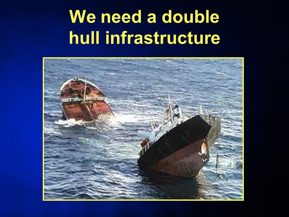 We need a double hull infrastructure
