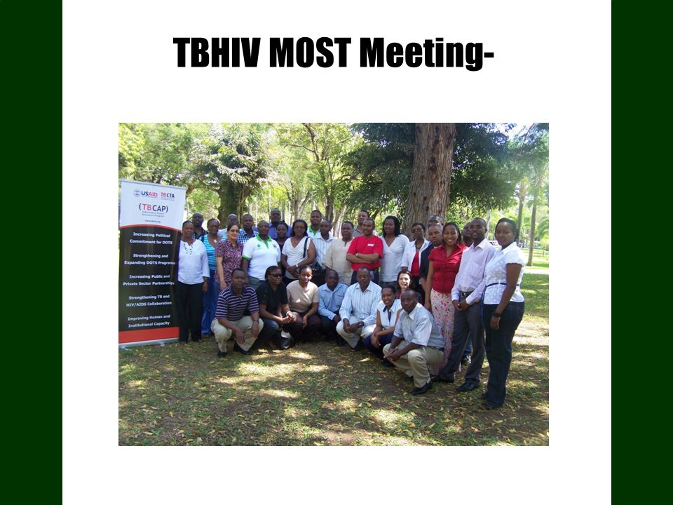 TBHIV MOST Meeting-