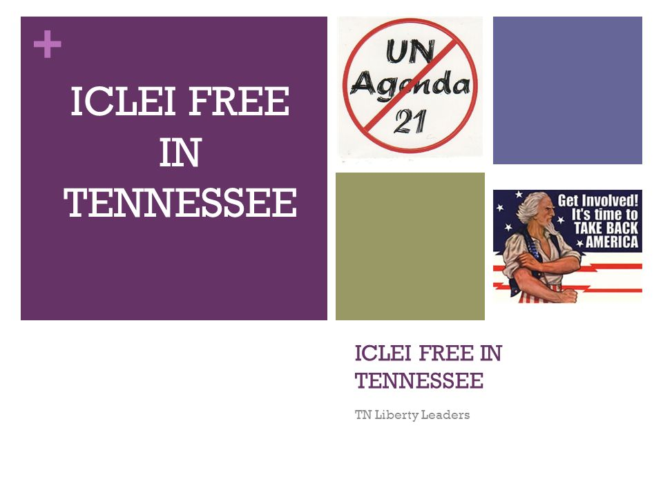 + ICLEI FREE IN TENNESSEE TN Liberty Leaders ICLEI FREE IN TENNESSEE