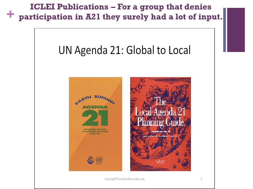 + ICLEI Publications – For a group that denies participation in A21 they surely had a lot of input.