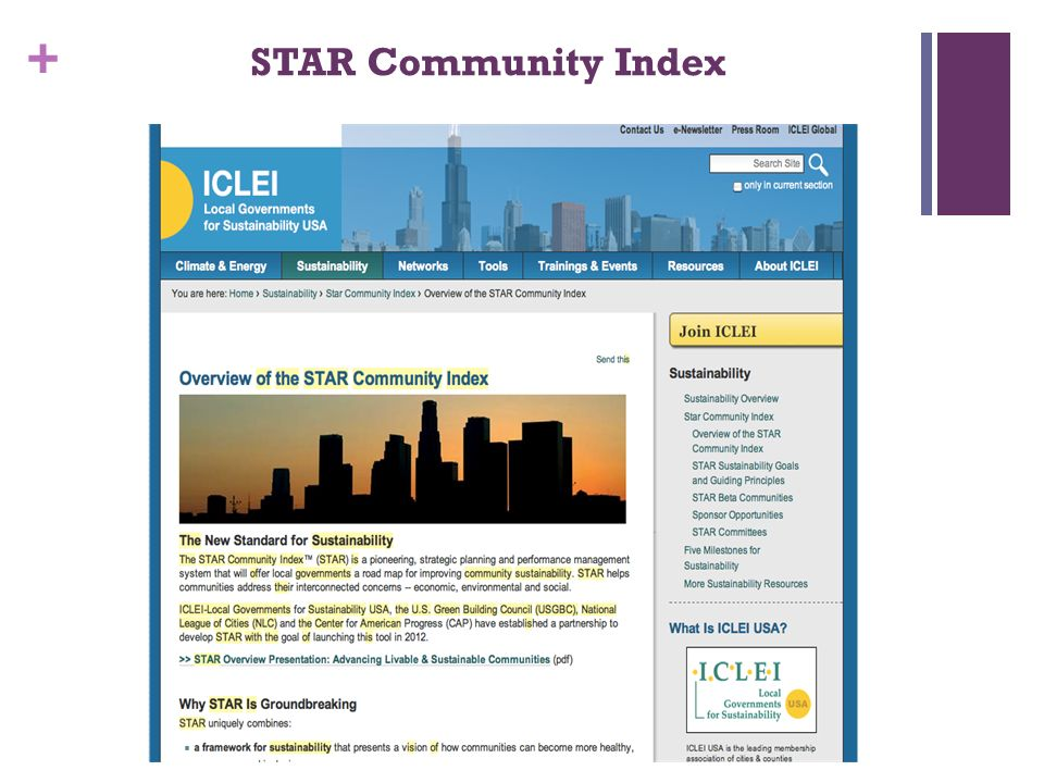 + STAR Community Index