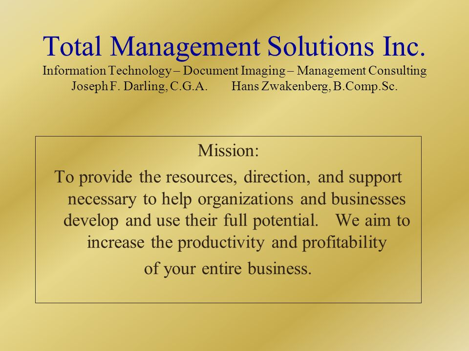Total Management Solutions Inc.