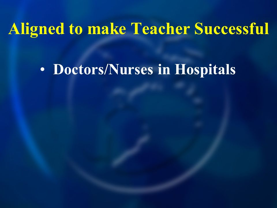 Aligned to make Teacher Successful Doctors/Nurses in Hospitals