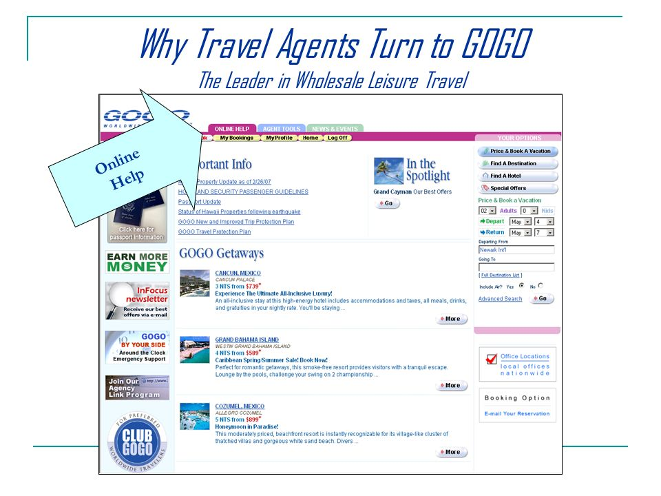 Why Travel Agents Turn to GOGO The Leader in Wholesale Leisure Travel Online Help
