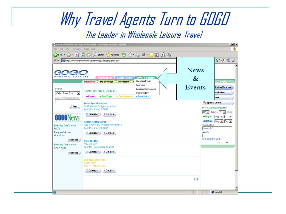 News & Events Why Travel Agents Turn to GOGO The Leader in Wholesale Leisure Travel