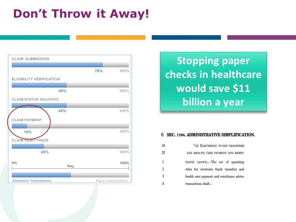 Dont Throw it Away! Stopping paper checks in healthcare would save $11 billion a year