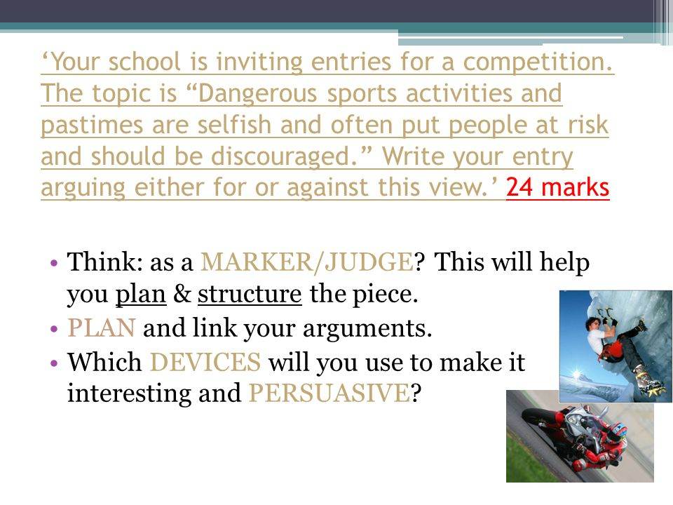 Your school is inviting entries for a competition.