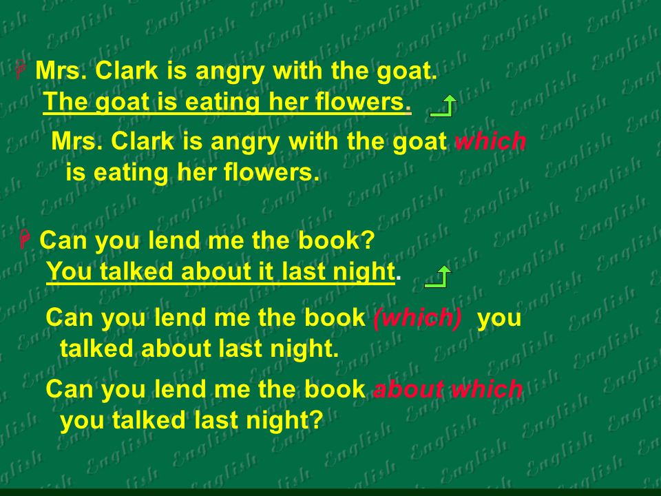 Mrs. Clark is angry with the goat. The goat is eating her flowers.