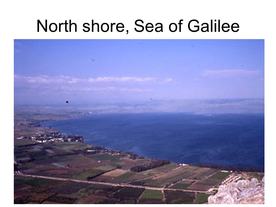 North shore, Sea of Galilee