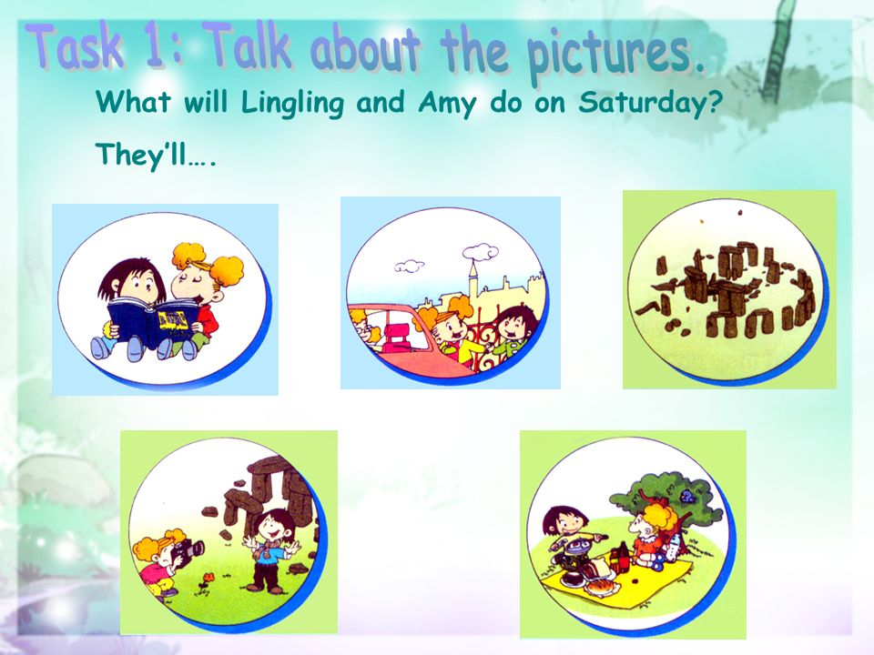 What will Lingling and Amy do on Saturday Theyll….