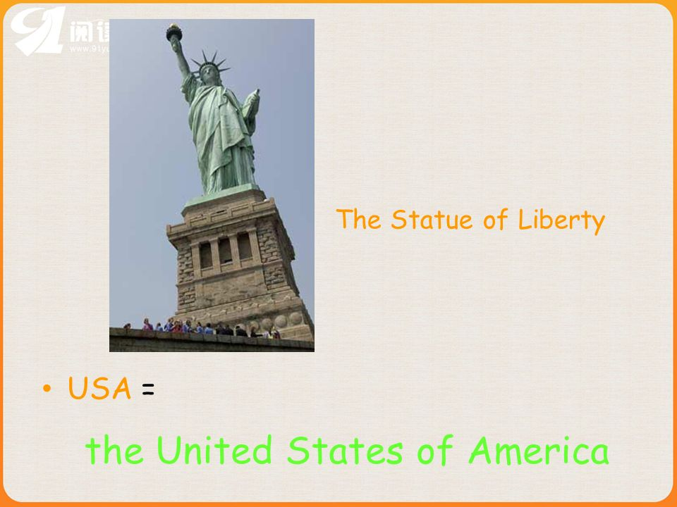 USA = The Statue of Liberty the United States of America