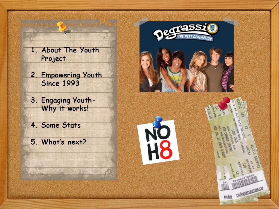 1.About The Youth Project 2.Empowering Youth Since 1993 3.Engaging Youth- Why it works.