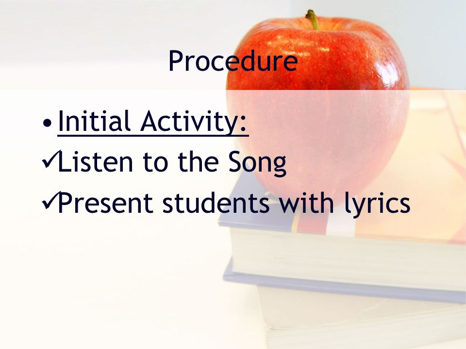 Lesson Plan: 11 th Grade Resources: Song Lyrics: Welcome to the Black Parade by My Chemical Romance (modern rock/ alternative band) CD player or Computer Guided questions Hand Out Figures of Speech