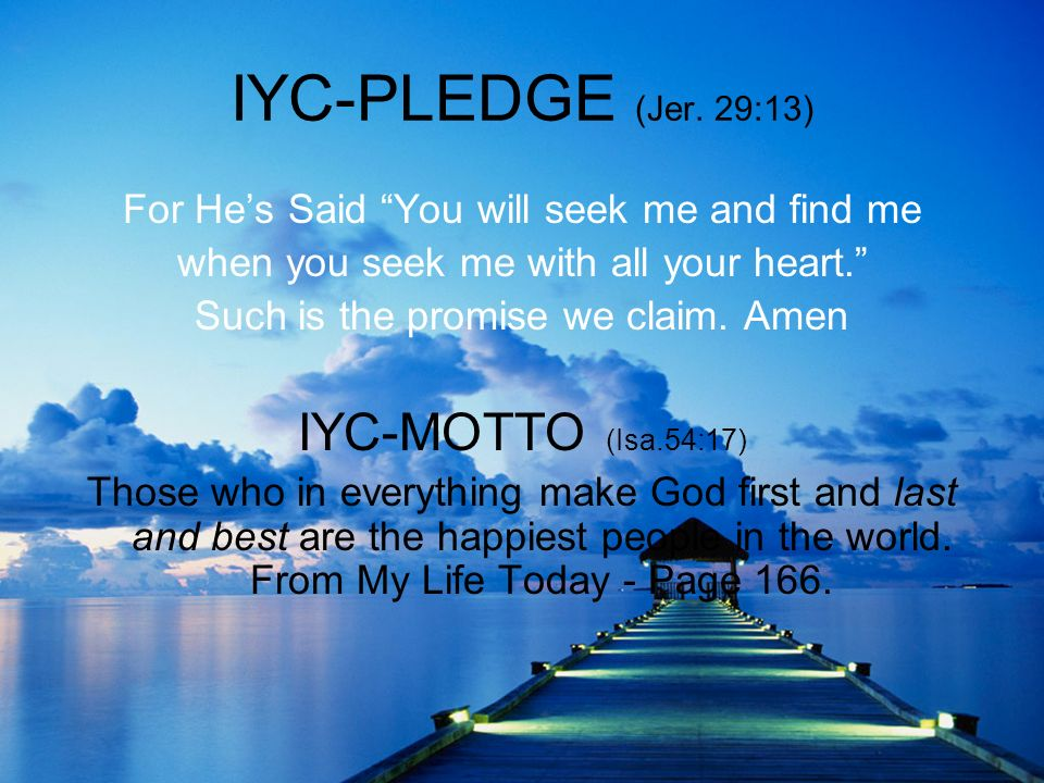 IYC-PLEDGE (Jer.