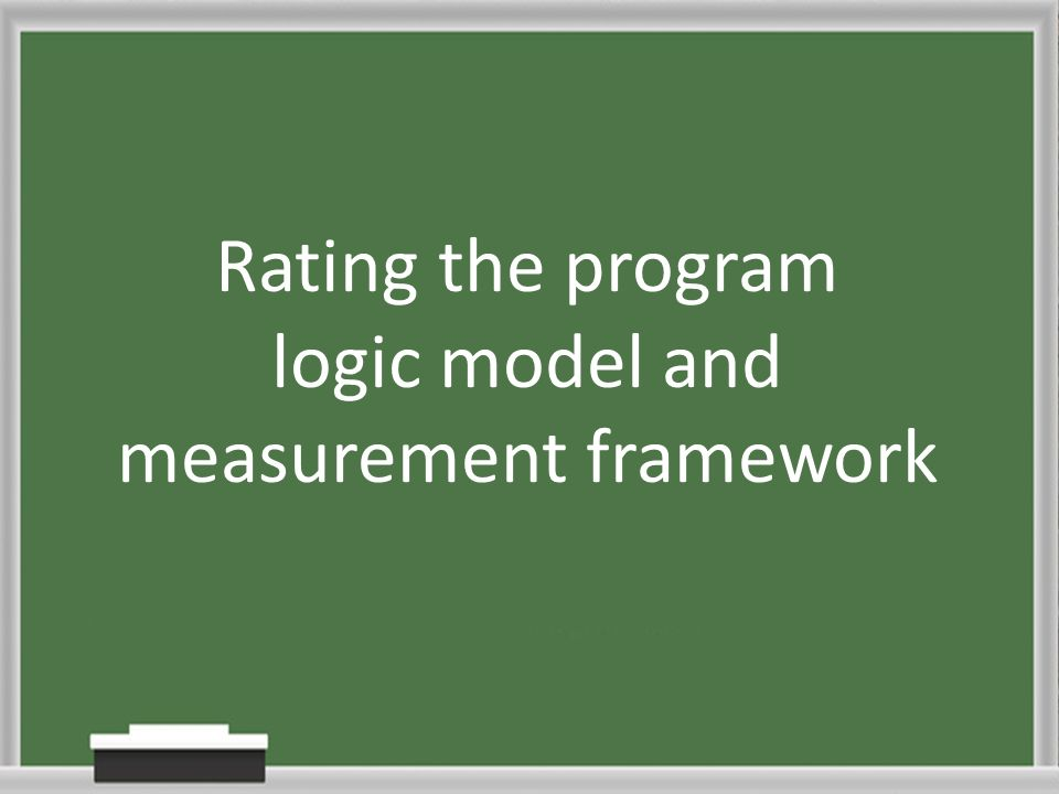 Rating the program logic model and measurement framework