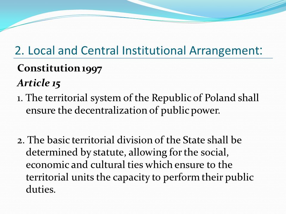 Constitution 1997 Article 15 1.