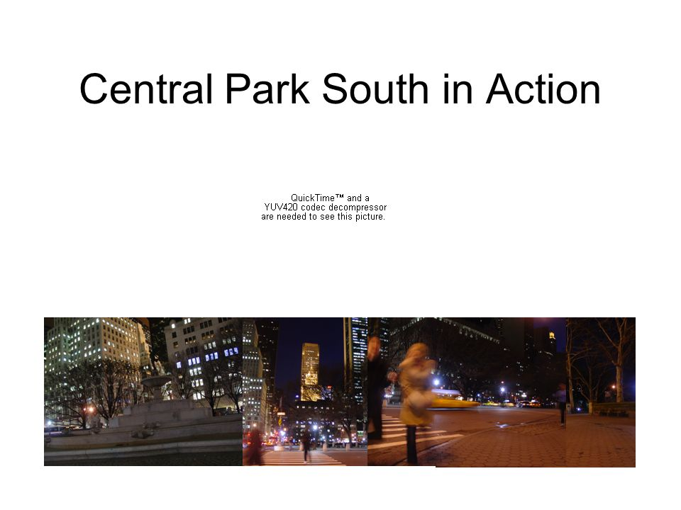 Central Park South in Action