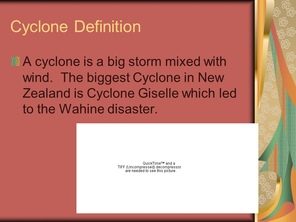 CYCLONE By Jonathan,Clarke,Melissa and Rhylee.