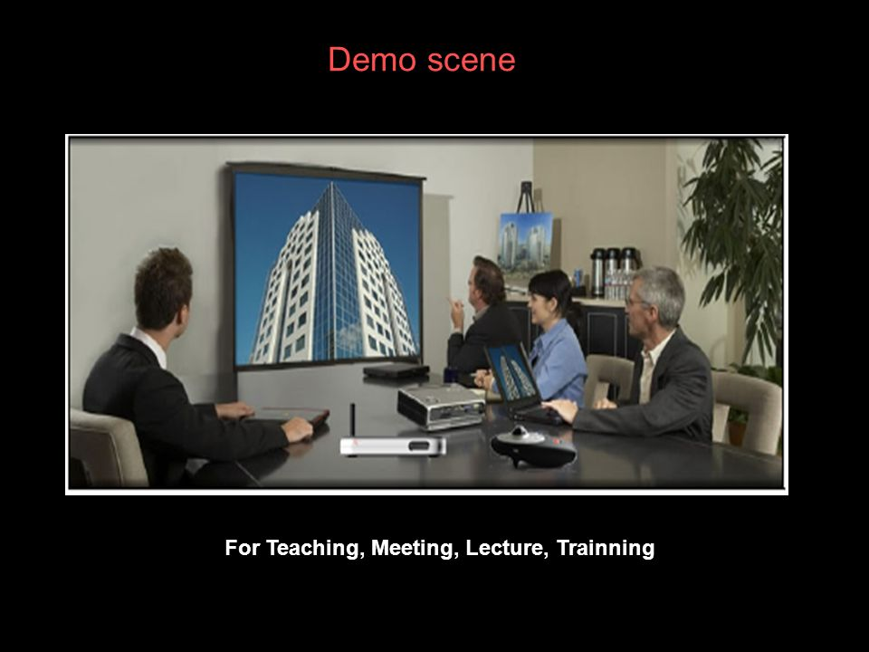 Demo scene For Teaching, Meeting, Lecture, Trainning