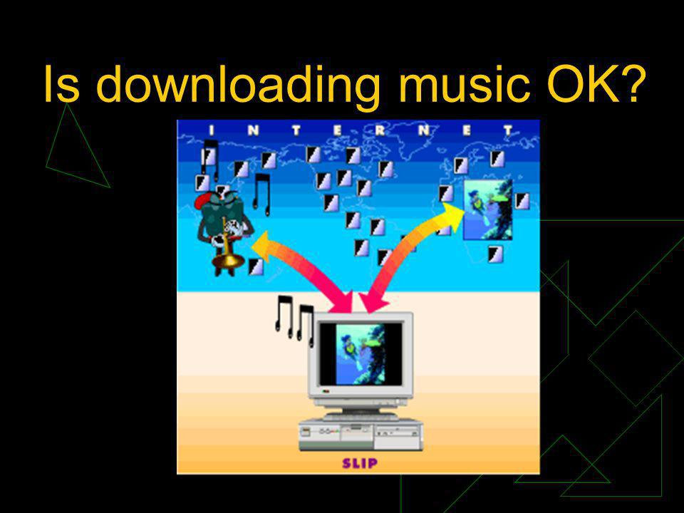 Is downloading music OK