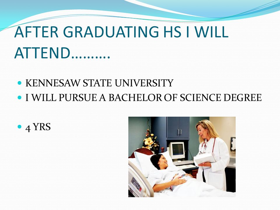 AFTER GRADUATING HS I WILL ATTEND……….