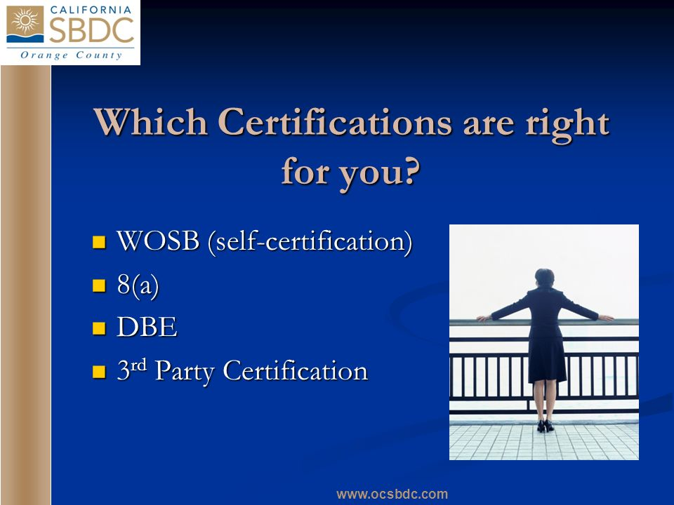 Which Certifications are right for you.
