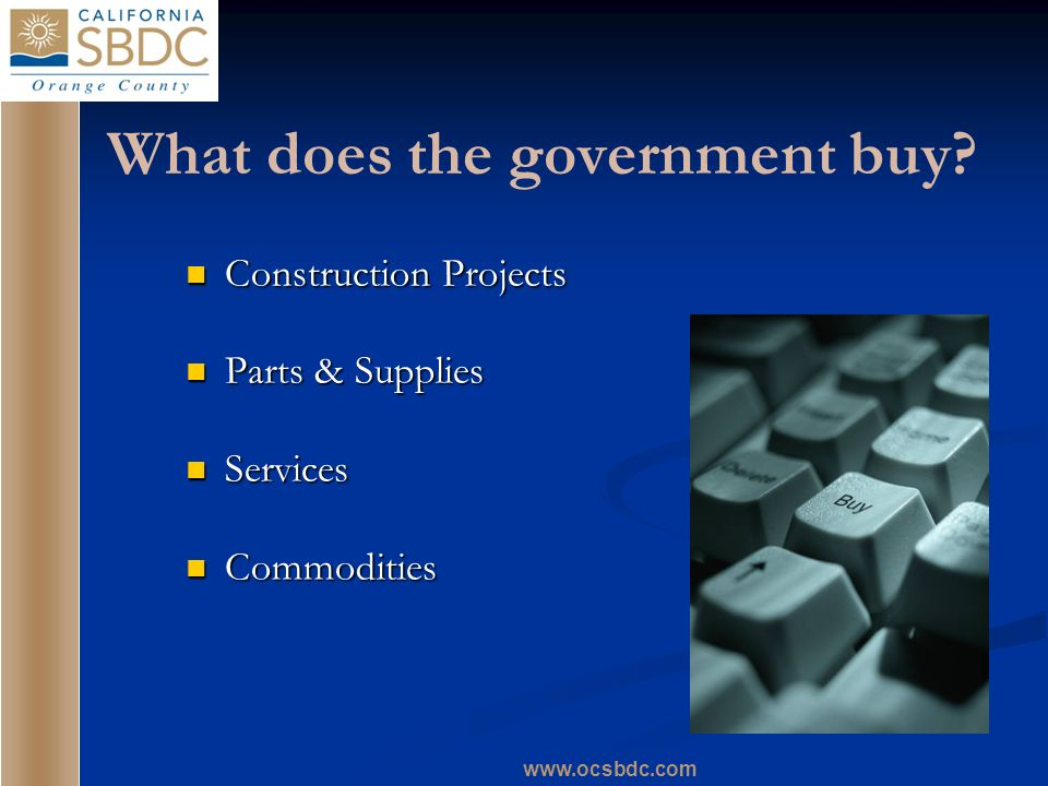 What does the government buy.