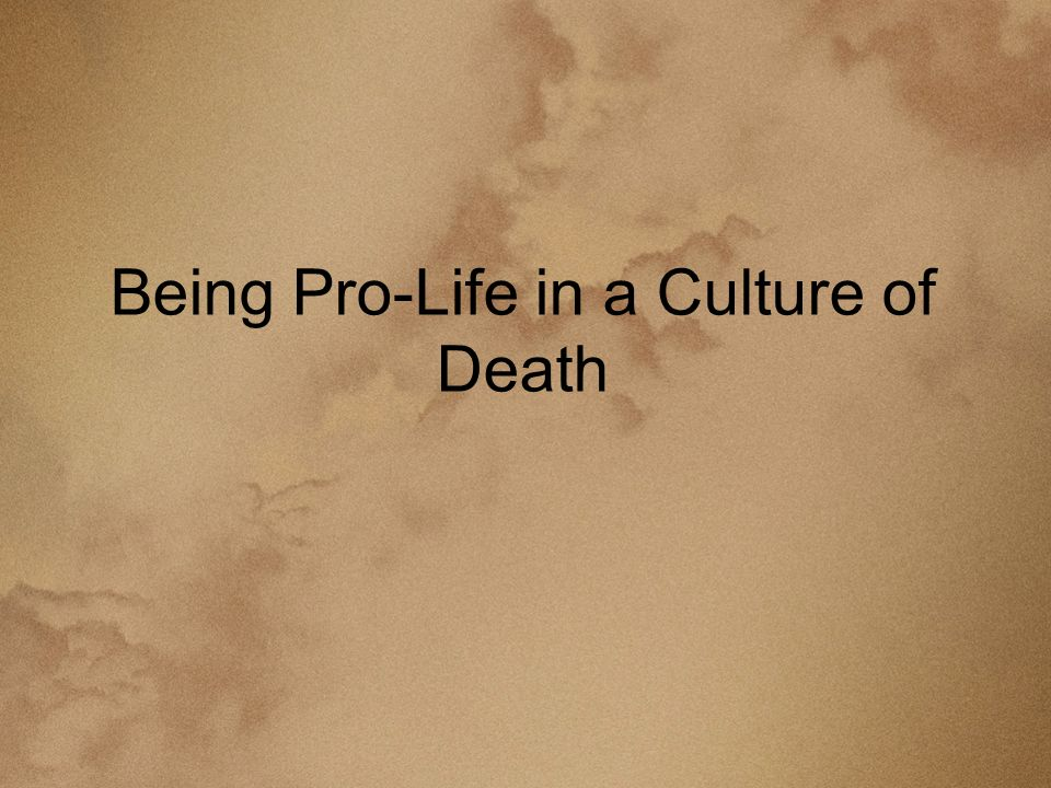 Being Pro-Life in a Culture of Death