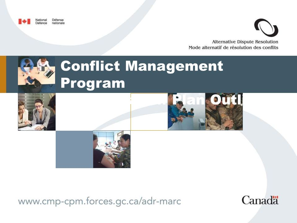 Conflict Management Program Transition Plan Outline