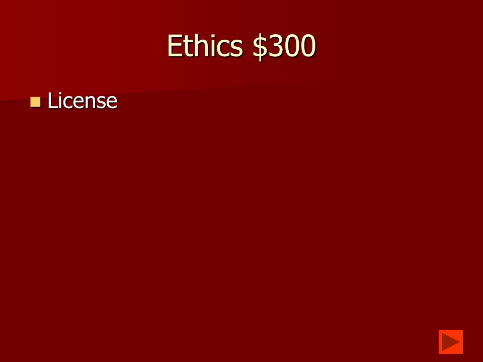 Ethics $200 The right to own something you have created.