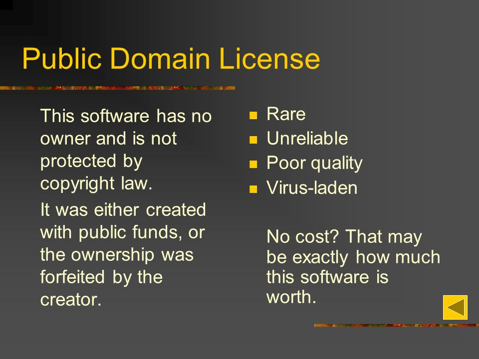 Public Domain License This software has no owner and is not protected by copyright law.