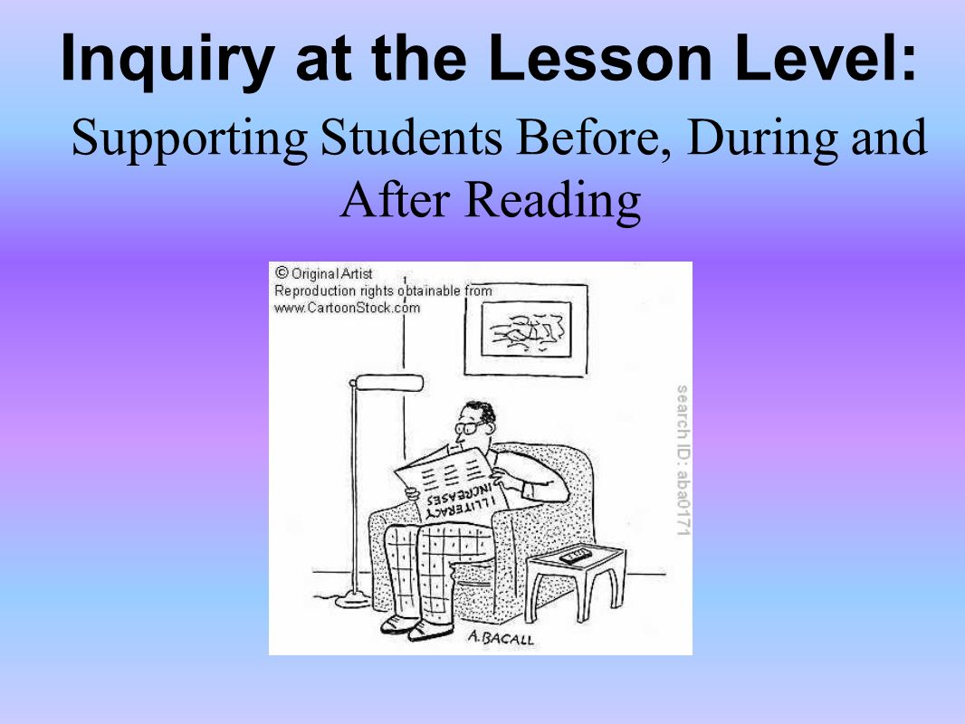 Inquiry at the Lesson Level: Supporting Students Before, During and After Reading