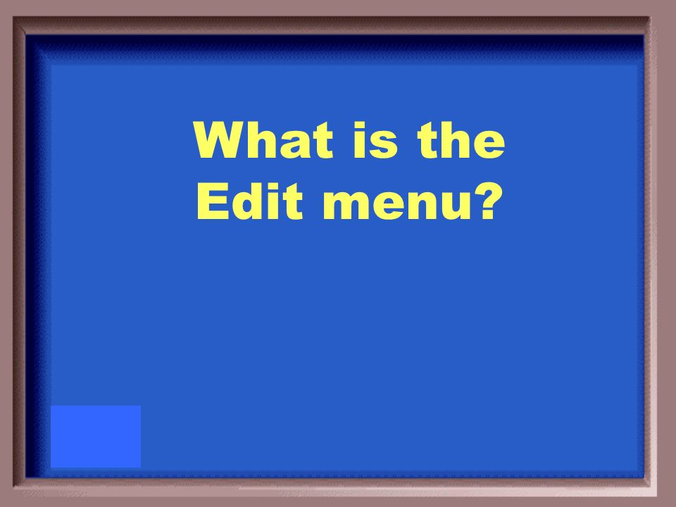 Find is found under this menu item.