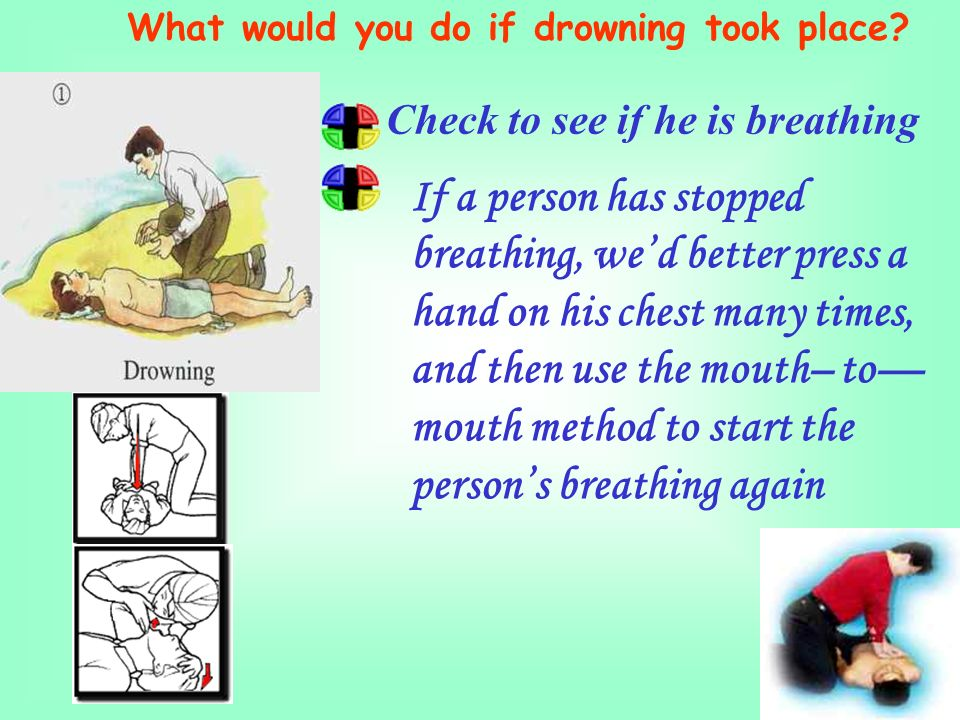 What would you do if drowning took place.