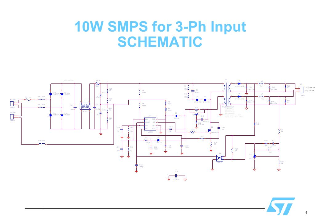 4 10W SMPS for 3-Ph Input SCHEMATIC