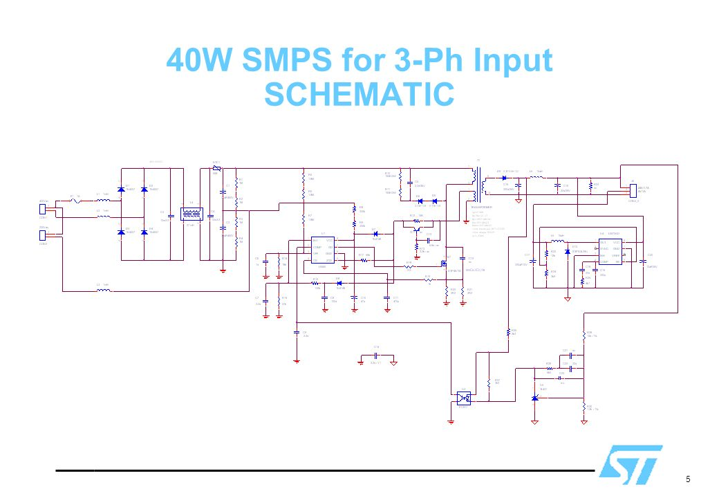 5 40W SMPS for 3-Ph Input SCHEMATIC