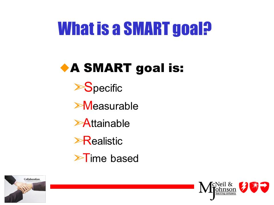 What is a SMART goal.